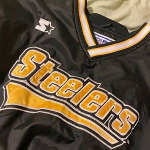 Starter Pittsburgh Steelers Puffer Crew Jacket